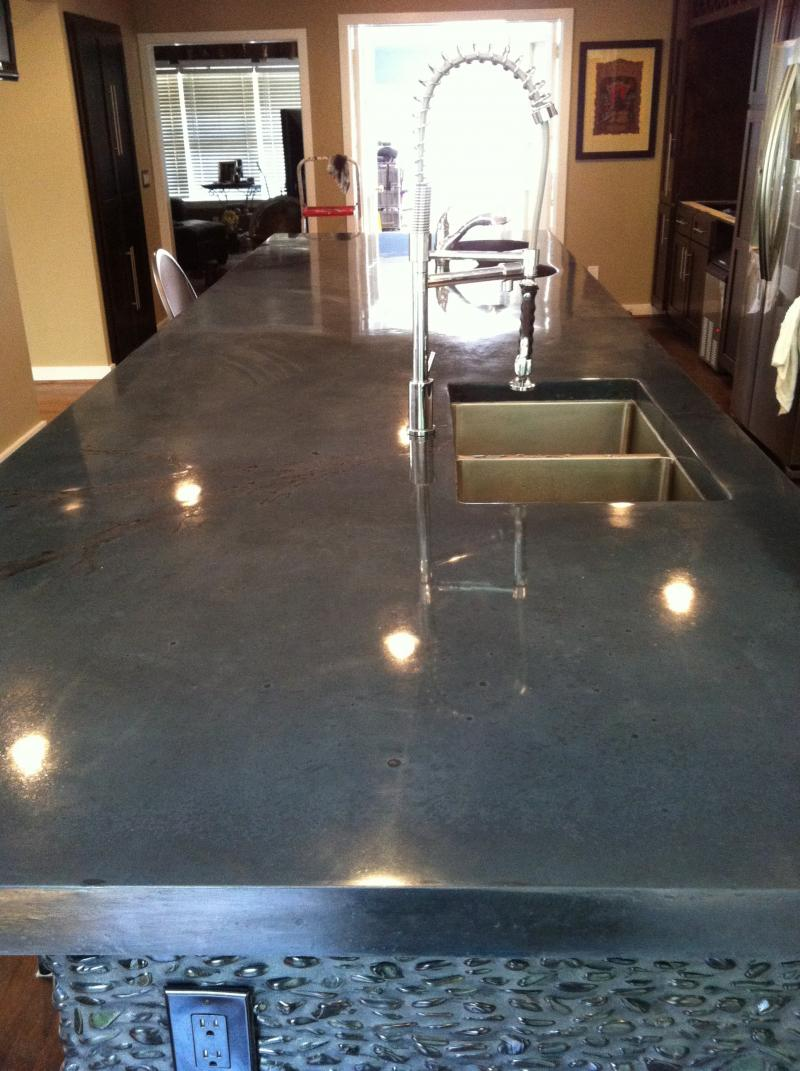Polished concrete countertops atlanta