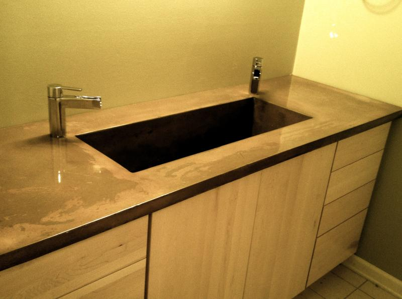 Burco surface & Decor Atlanta GA concrete bath vanity